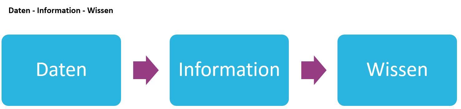 Dazu dient ein ERP-System: Daten, Informationen und Wissen
