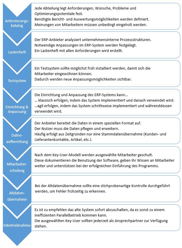 Auswahlprozess ERP System Einführung
